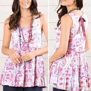 MATILDA JANE Breathe Deeply Floral Tiered Tank Top